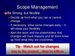 scope management1