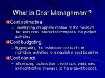 what is cost management