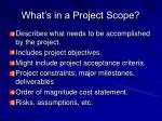what s in a project scope
