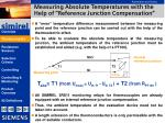 measuring absolute temperatures with the help of reference junction compensation