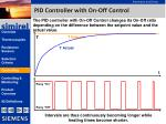 pid controller with on off control