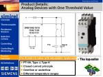 product details analog devices with one threshold value