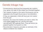 genetic linkage map