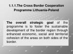 1 1 1 the cross border cooperation programme lithuania poland1