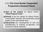 1 1 1 the cross border cooperation programme lithuania poland6