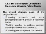 1 1 3 the cross border cooperation programme lithuania poland russia1