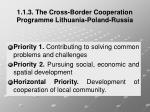 1 1 3 the cross border cooperation programme lithuania poland russia2