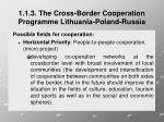 1 1 3 the cross border cooperation programme lithuania poland russia6