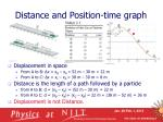 distance and position time graph