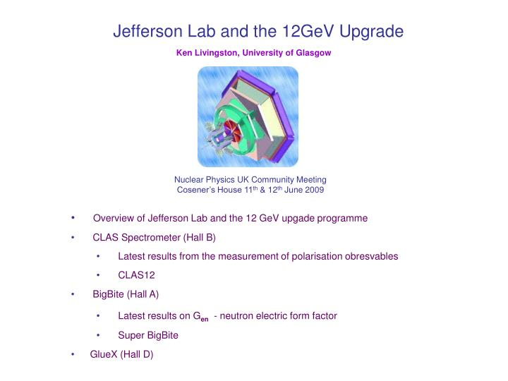 jefferson lab and the 12gev upgrade n.
