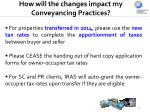 how will the changes impact my conveyancing practices