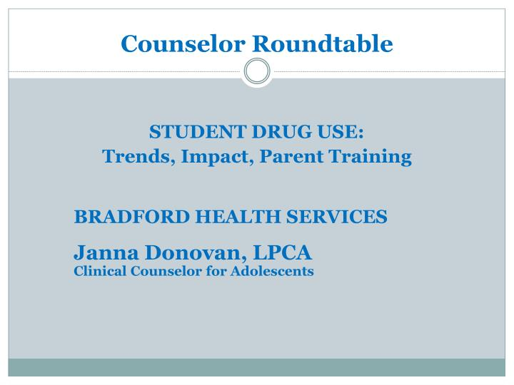 counselor roundtable n.