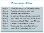 progression of care