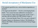 social acceptance of marijuana use