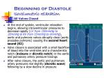 beginning of diastole isovolumetric relaxation all valves closed