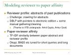 modeling reviewer to paper affinity