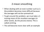2 mean smoothing