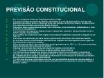 previs o constitucional