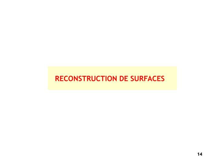 RECONSTRUCTION DE SURFACES