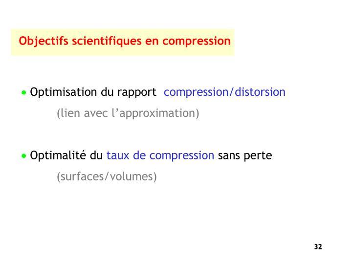 Objectifs scientifiques en compression