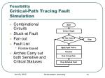 feasibility critical path tracing fault simulation