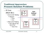 traditional approaches present solution problems