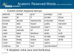 anatomi reserved words1