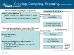 creating compiling executing