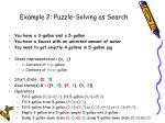 example 2 puzzle solving as search