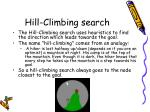 hill climbing search