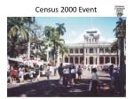 census 2000 event