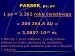 parsek ps pc