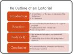 the outline of an editorial
