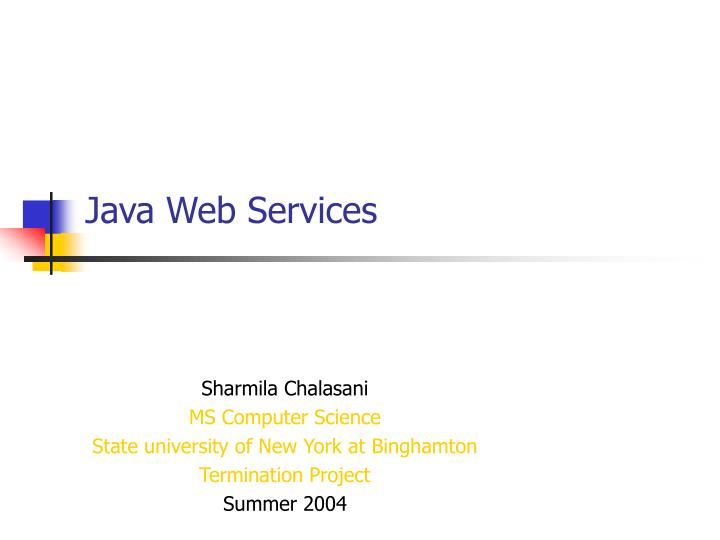 java web services n.