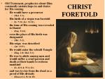 christ foretold