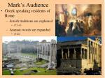 mark s audience