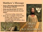 matthew s message