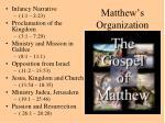 matthew s organization
