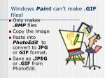 windows paint can t make gif files