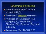 chemical formulas1