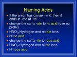 naming acids1