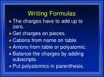 writing formulas