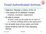 timed authenticated archives