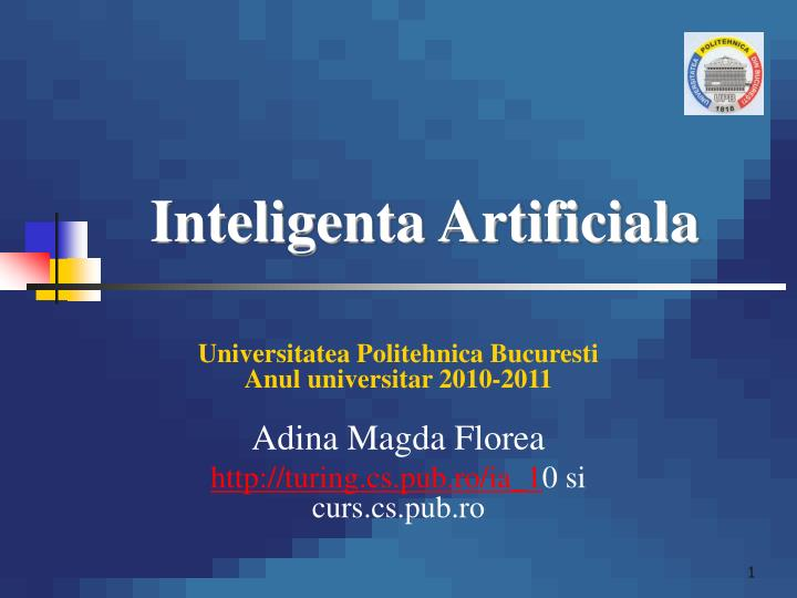 inteligenta artificiala n.