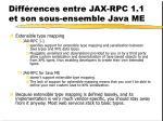 diff rences entre jax rpc 1 1 et son sous ensemble java me8