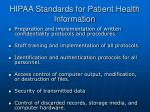 hipaa standards for patient health information