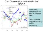 can observations constrain the moc