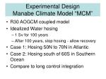 experimental design manabe climate model mcm