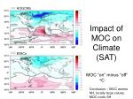 impact of moc on climate sat
