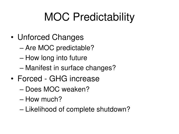 MOC Predictability